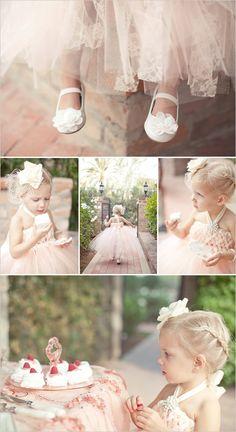Blush Tulle Flower Girl Dress