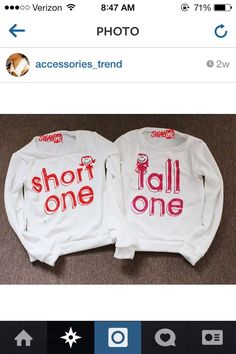 Best friend shirts!!! @Amanda Snelson Snelson W Bc your sister doesn't pinterest.... we could've rocked these :)