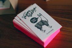 Llama! car accessories, business cards, paper, the edge, letter press, busi card, letterpress, llama, design