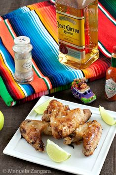The recipe for tropical style chicken wings: Margarita Chicken Wings!