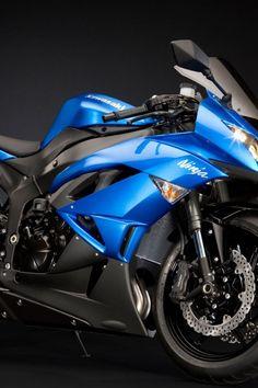Kawasaki Ninja. Love this blue color