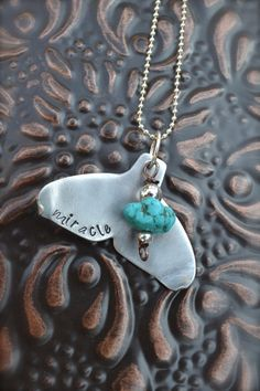 Whale Tail Metal Stamped Necklace  Smooth Silver by ArtisticSoles, $25.00