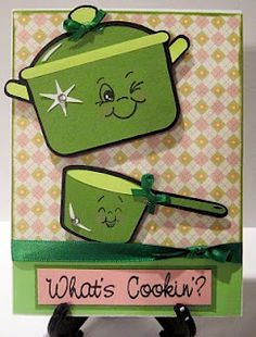 Cute card! 'From my Kitchen' Cricut Cartridge