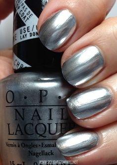 Metallic Silver Nail Polish Opi   Nails Gallery