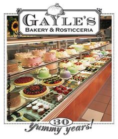 Gayle's Bakery  Nestled above the quaint Capitola Village at 504 Bay Avenue, Capitola. Forty minutes north of the Monterey Peninsula and ten minutes south of Santa Cruz. Open 6:30 a.m. to 8:30 p.m. daily with a few exceptions. We are closed Easter Sunday, Christmas Day & New Year's Day.