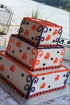 clemson tiger, theme cakes, clemson cake, 2nd cake, wedding cakes, clemson girl