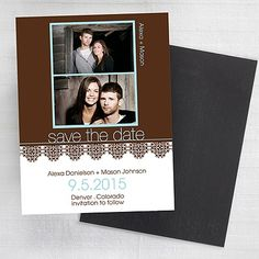 Photo Florals - Save the Date Magnet - Chocolate