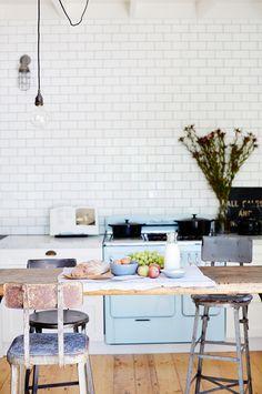 stove, interior, hous daylesford, rustic kitchens, vintage houses, vintag hous, style file, vintage kitchen