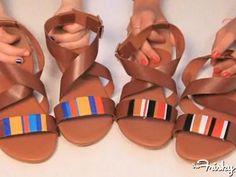 DIY Striped Sandals