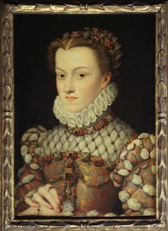 "François Clouet (1510 – 1572)  was a painter of portraits and a miniaturist during the French Renaissance. Clouet was known for his precise and detailed works. ""Elisabeth of Austria, Queen of France"""
