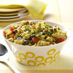 Quinoa Recipes from Taste of Home, including Curried Quinoa and Chickpeas Recipe