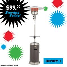 Don't miss this patio heater on sale now! #BlackFriday