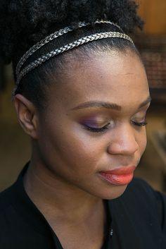 Bold purple eye + bright orange lip! Click for the full tutorial via @M∙A∙C Cosmetics