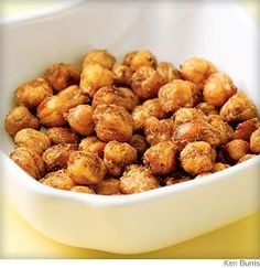 Looking for something healthy to snack on instead of a Carrot stick?! These Oven Roasted Chickpeas are amazing!! http://FourSeasonGourmet.com/spicy-oven-roasted-chickpeas/