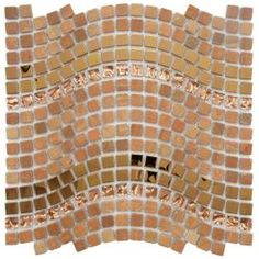 Merola Tile Tessera Wave Saturn 12-1/4 in. x 11-3/4 in. Glass/Stone/Metal Mosaic Wall Tile