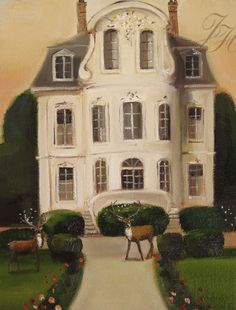 Janet Hill - Stags at the Chateau
