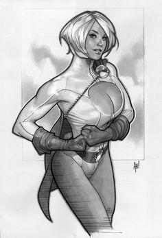 Power Girl 'Sketch' by ~AdamHughes