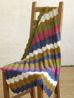 Spring Ripple Baby Throw - pale colours