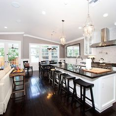 Open Concept Living Room Kitchen Design, Pictures, Remodel, Decor and ...