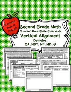 FREEBIE!!  Second Grade CCSC Vertical Alignment.
