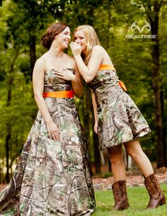 Realtree APG Camo Wedding Dresses - Trails of Happiness