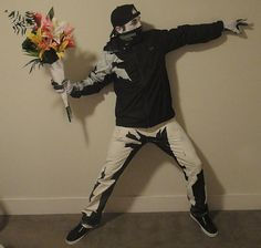 Banksy Halloween Costume. Oh so clever!