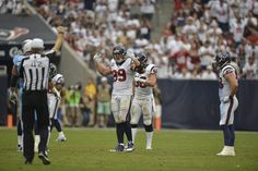 Brian Cushing, JJ Watt and Brooks Reid...thats a lot of power in one picture