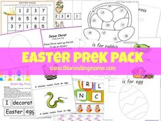 FREE Easter PreK Pack | This Reading Mama