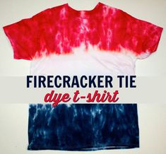 We created this awesome firecracker Popsicle inspired T-Shirt.  It's perfect to make for a summer DIY and wear on the 4th of July. #america #fourthofjuly #independenceday #usa #4thofjuly #patrioticcrafts  #redwhiteblue #diy #crafts #projects  #diycrafts #diyprojects #fundiys #funprojects #diyideas #craftprojects