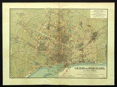 Ciudad de Barcelona con su llano y alrededores :: Mapes (Biblioteca de Catalunya)
