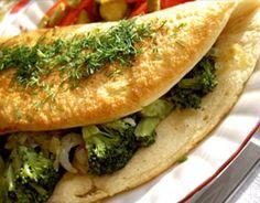 #Omlet z brokułami <3