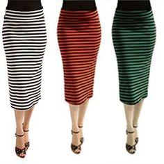 Midi Length Womens Pencil Skirt