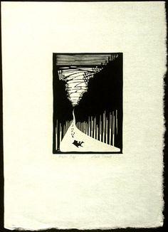 """Winter Play"" by Wharton Esherick (woodcut, 1928) #art #woodcut"