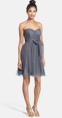 Gray bridesmaid dress | Jenny Yoo bridesmaid dresses