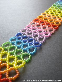Love rainbows of all sorts!  @Renee Peterson Peterson Peterson Mortinsen VanPelt#Beading