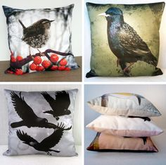 Love these pillows. Go to Etsy and check out Mirthquake's shop.