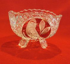 Vintge Hofbauer Byrder Crystal Bowl or Candy Dish Ruby Red Flashglass. $59.00, via Etsy.