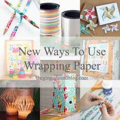 How to Use Your Leftover Wrapping Paper...some cute ideas here