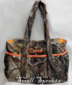 Custom Camo-Mossy oak, Real Tree AP, Advantage Max 4,-Fancy Diaper Bags-Match Your Car Seat Cover or Stroller Cover
