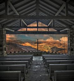 """Chapel at Camp Greenville in Cedar Mountain, NC. """"Pretty Place"""""""