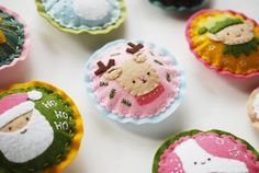 Kitschy Christmas Felt Ornaments  DIY Project PDF by wildolive