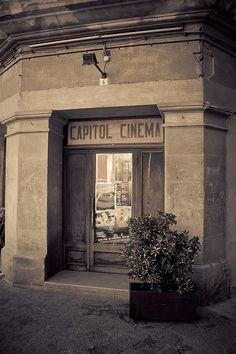 Old Cinema in Pollenca, Balearic Islands