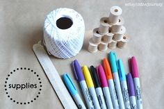 DIY Baker's Twine with Sharpies!