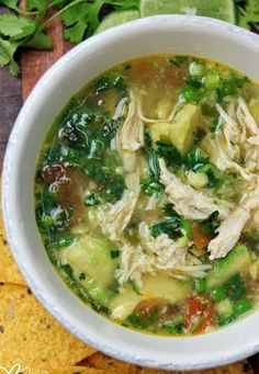 Avocado Chicken Soup add white beans for white chili