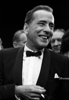 Humphrey Bogart at the premiere of The Desperate Hours, 1955.