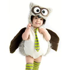 Men's Baby Boys Owl Outfit Cute Infant Halloween Costume