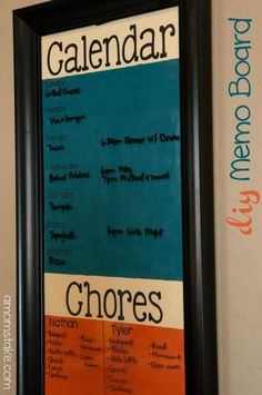 DIY memo board tutorial - great inexpensive gift or way to get organized for back to school