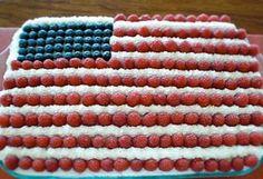 AMERICAN FLAG CAKE - Cristina Ferrare