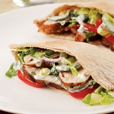 Indian-Spiced Chicken Pitas Recipe
