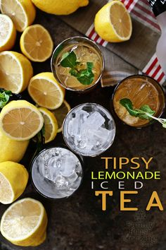 Tipsy Lemonade Iced Tea | Cocktail Recipe | FamilyFreshCooking.com